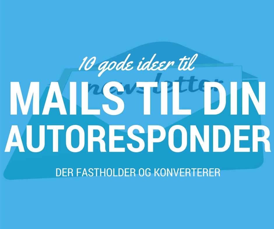 Autoresponder mail-ideer